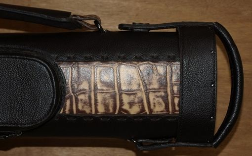 Custom Made Tl34npgp  Leather Poolstick Case