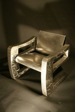 Custom Made Curvaceous Modern Steel Chair