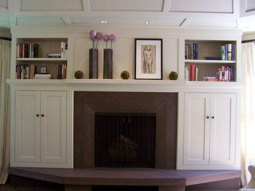 Custom Made Arts And Crafts Style Built-In Cabinets