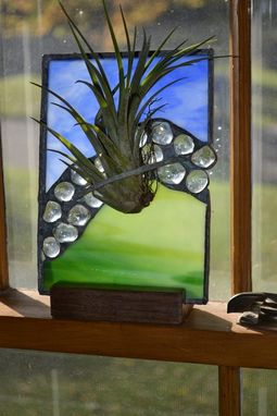 Custom Made Stained Glass Air Plant Display
