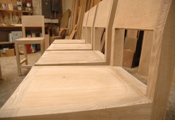 Hand Made Oregon White Oak Dining Chairs By Jonathan A Nussbaum Furniture Maker Custommade Com