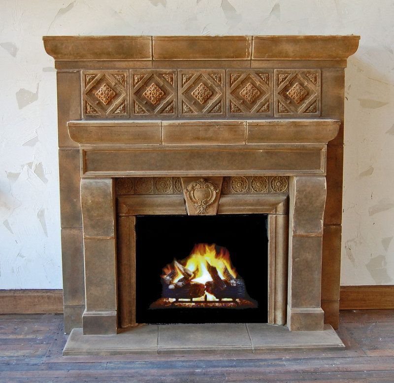 Custom Concrete Fireplace Mantels by Stone Effects | CustomMade.com