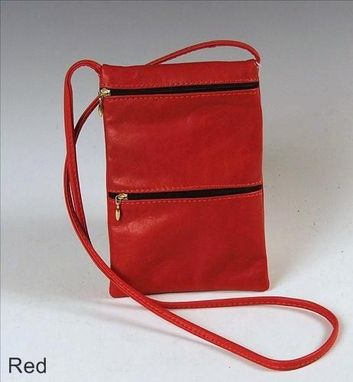 Custom Made Passport Bag, Red Leather