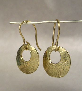 Custom Made Solid 14k Gold Disk Earrings - Lightweight And Easy To Wear