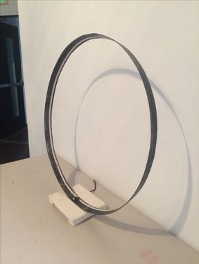 Custom Made Steel Circle Lamp. Ready To Go