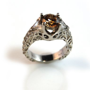Custom Made Jill's Champagne Diamond Wedding Ring