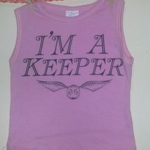 97ada455e1d Harry Potter Inspired I M A Keeper And Golden Snitch Sleevless Summer Shirt