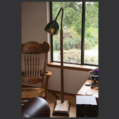 Custom Made Copper Gooseneck Reading Lamp