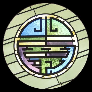 Custom Made Long Life - Chinese Character In Stained Glass