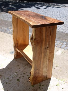 Custom Made Live Edge Walnut/Maple  Console Table