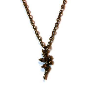 Custom Made Bronze Fairy Necklace Fairy Tale Pendant