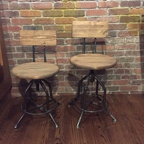 Swivel Bar Stool With Back Rustic