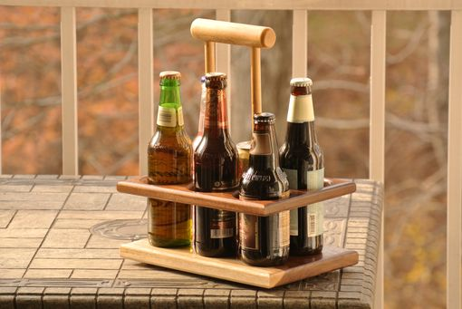Custom Made Handmade Walnut 6-Pack Beer Carrier