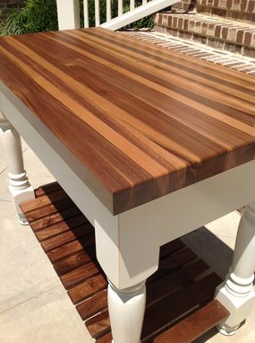 Custom Made Black Walnut Kitchen Prep Table