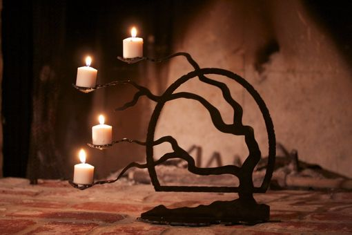 Custom Made Lone Tree Candle Holder