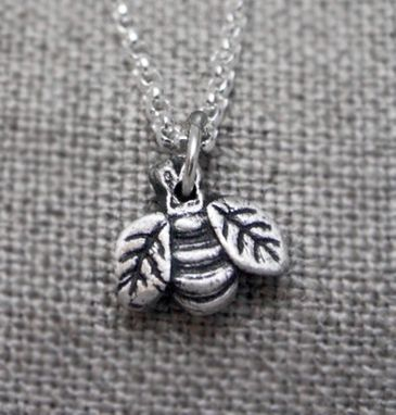 Custom Made Fine Silver - Dainty Bee Necklace - $42
