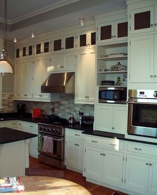Custom Made Painted Boston Kitchen