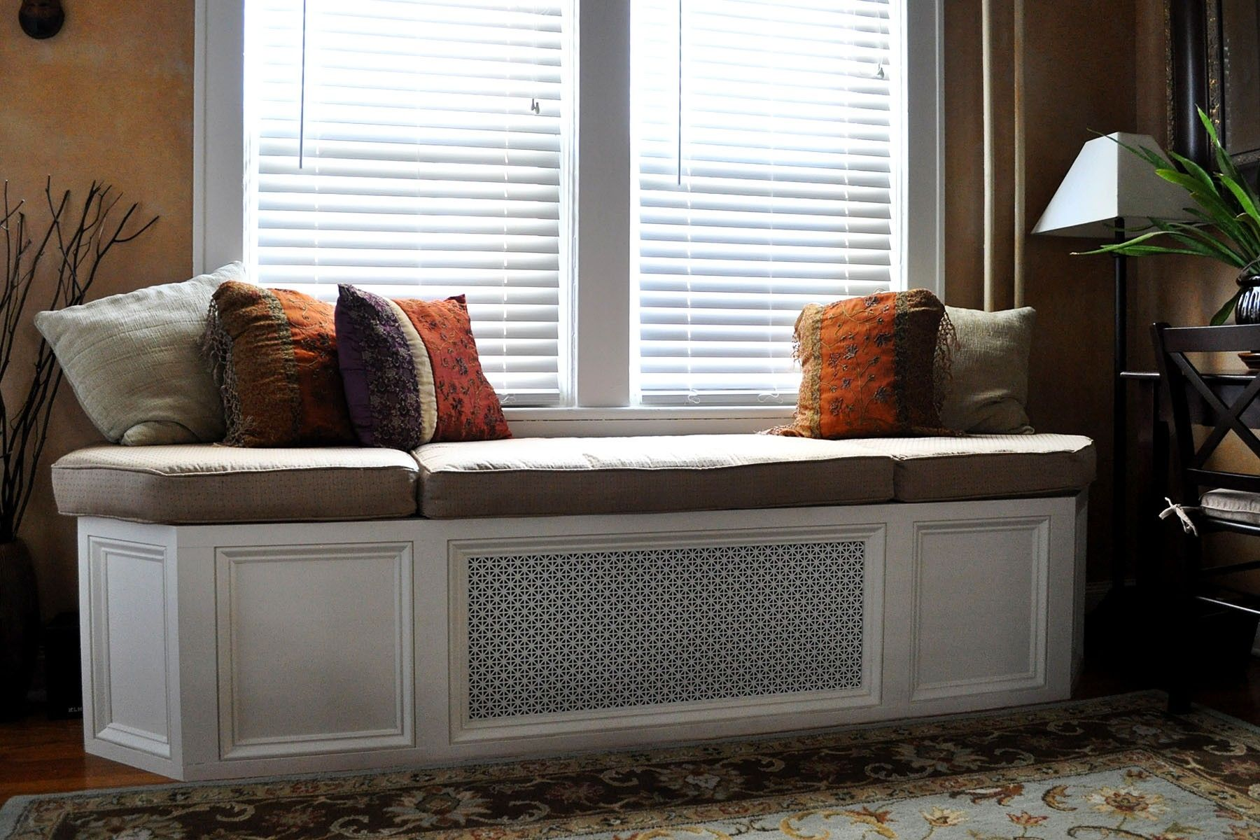 Hand made custom window seat bench cushion by hearth and