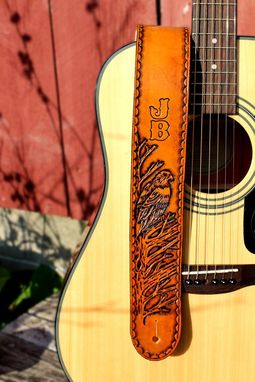Custom Made Custom Eagle Leather Guitar Strap