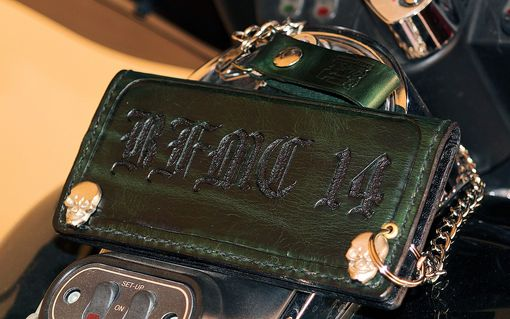 Custom Made Custom Leather Mc Club Biker, Trucker Chain Wallet Personalized
