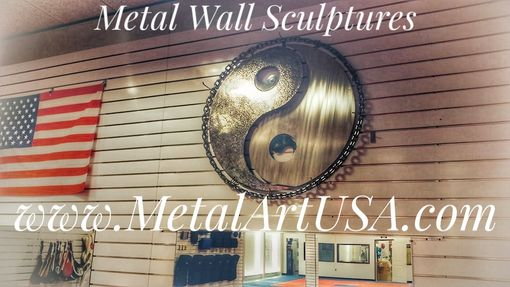 Custom Made Martial Arts Metal Wall Sculptures & Metal Decor