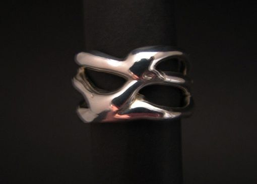 Custom Made One-Of-A-Kind Sterling Silver Ring From The Cypress Freeform Collection