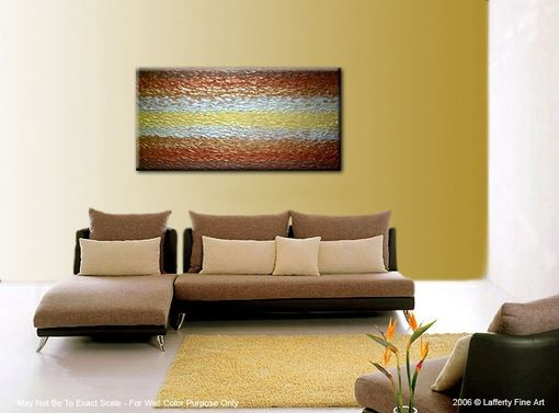 Custom Made Metallic Painting, Original Art, Gold Abstract Paintings, Palette Knife Textured Art - 48x24