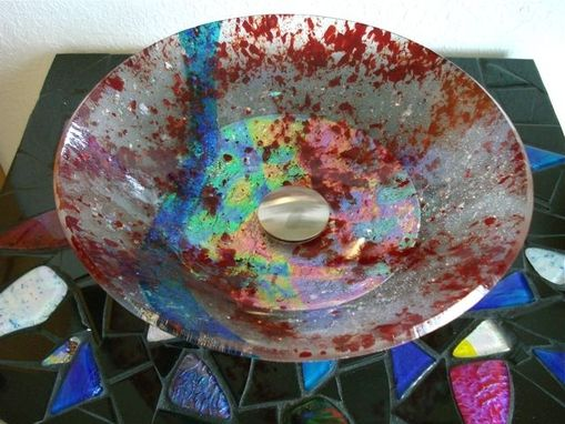 Custom Made Custom Dichroic Glass Sink