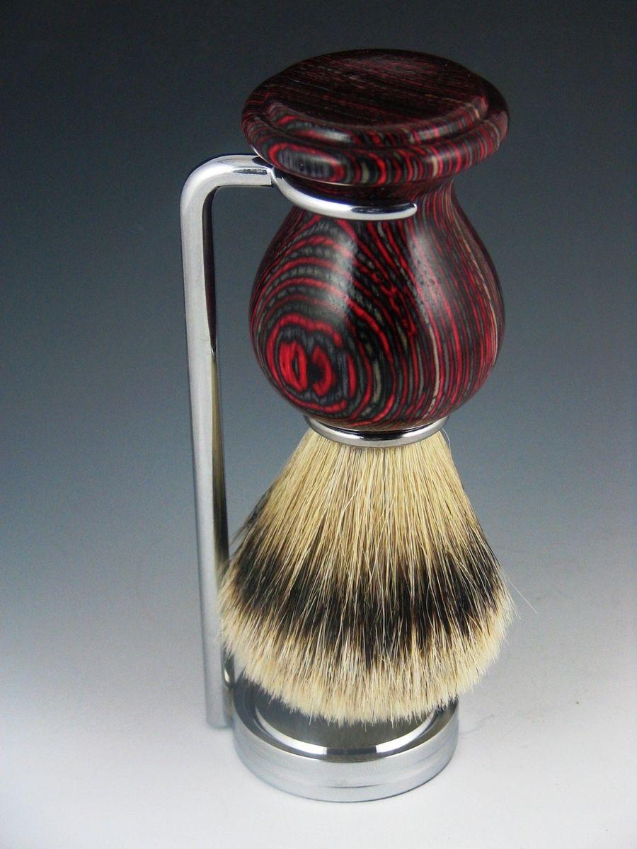 Handmade Silver Tip Badger Hair Shaving Brush By