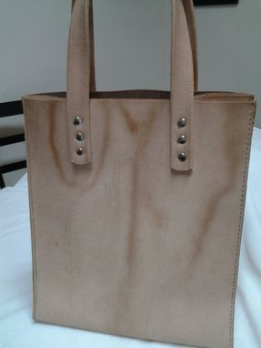 Custom Made Leather All-Purpose Tote Bag