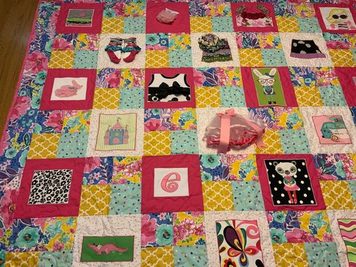 Custom Made Gorgeous Custom Clothing Applique Quilt