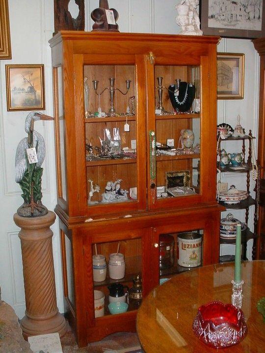 Custom louisiana cypress wood and glass door display - Custom display cabinets ...