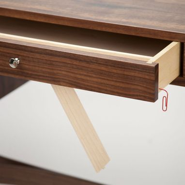 Custom Made Mid Century Letter Desk In Walnut