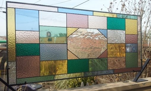 Custom Made Stained Glass Windows - Inspired By The Ca D'Zan Ceiling In Sarasota (W-46)