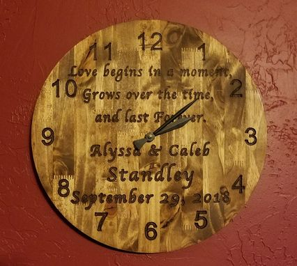 Custom Made Customized Wood Clock