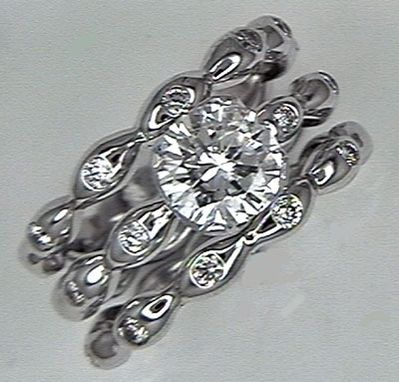Custom Made Seed Wedding Set, 18kt White Gold