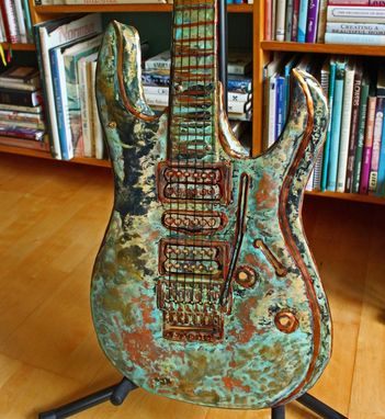 Custom Made Solid Copper Fender Stratocaster Sculpture