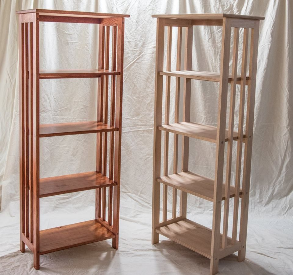 Red Oak Bookcase: Mission Style, Red Oak By BlackDog