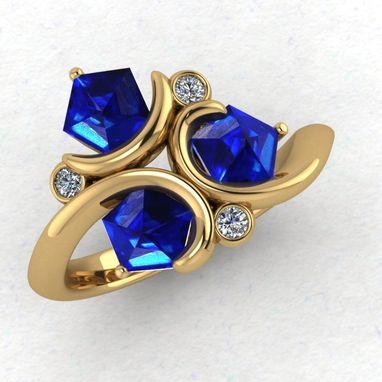 Custom Made Zelda Loopy Ring- Zora Gems- Ladies
