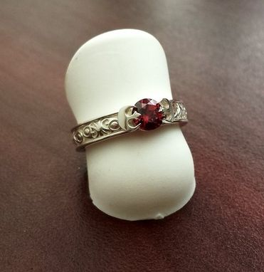 Custom Made Princess Leia Inspired Engagement Ring