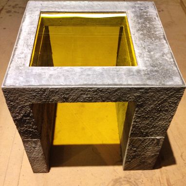 Custom Made Concrete Cube Table