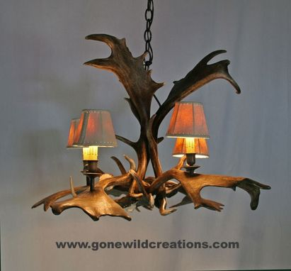 "Custom Made Fallow Deer Antler Chandelier ""Truckee"""