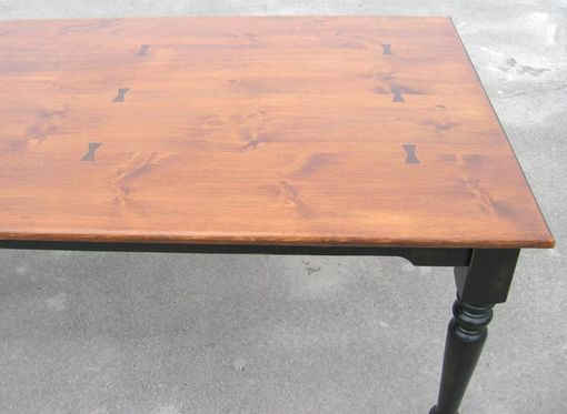 Custom Made Harvest Table W/Company Boards 72