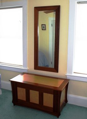 Custom Made Wood Framed Mirror - Mahogany Sapele Walnut Maple