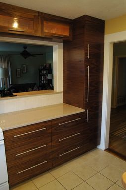 Custom Made Minimalist Cabinetry In Walnut