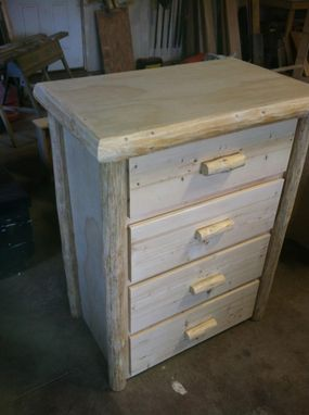 Custom Made 4 Drawer Log Dresser