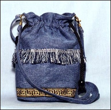 "Custom Made ""Denim Drawstring Bag"""