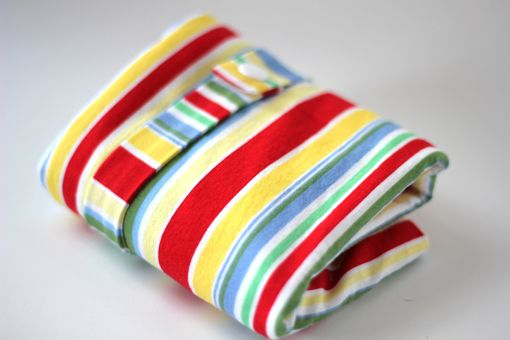 Custom Made Large Lay Flat Messy Bags (Wet Bags) - Retro Cha Cha Stripe