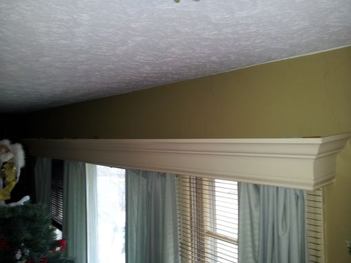 Custom Made Wood Window Valance