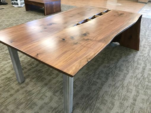 Custom Made Live-Edge Slab Dining Room Table